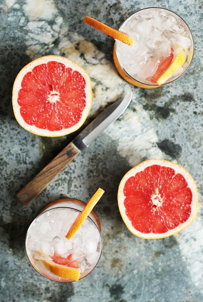 Simple Grapefruit Vodka Soda | Set the Table