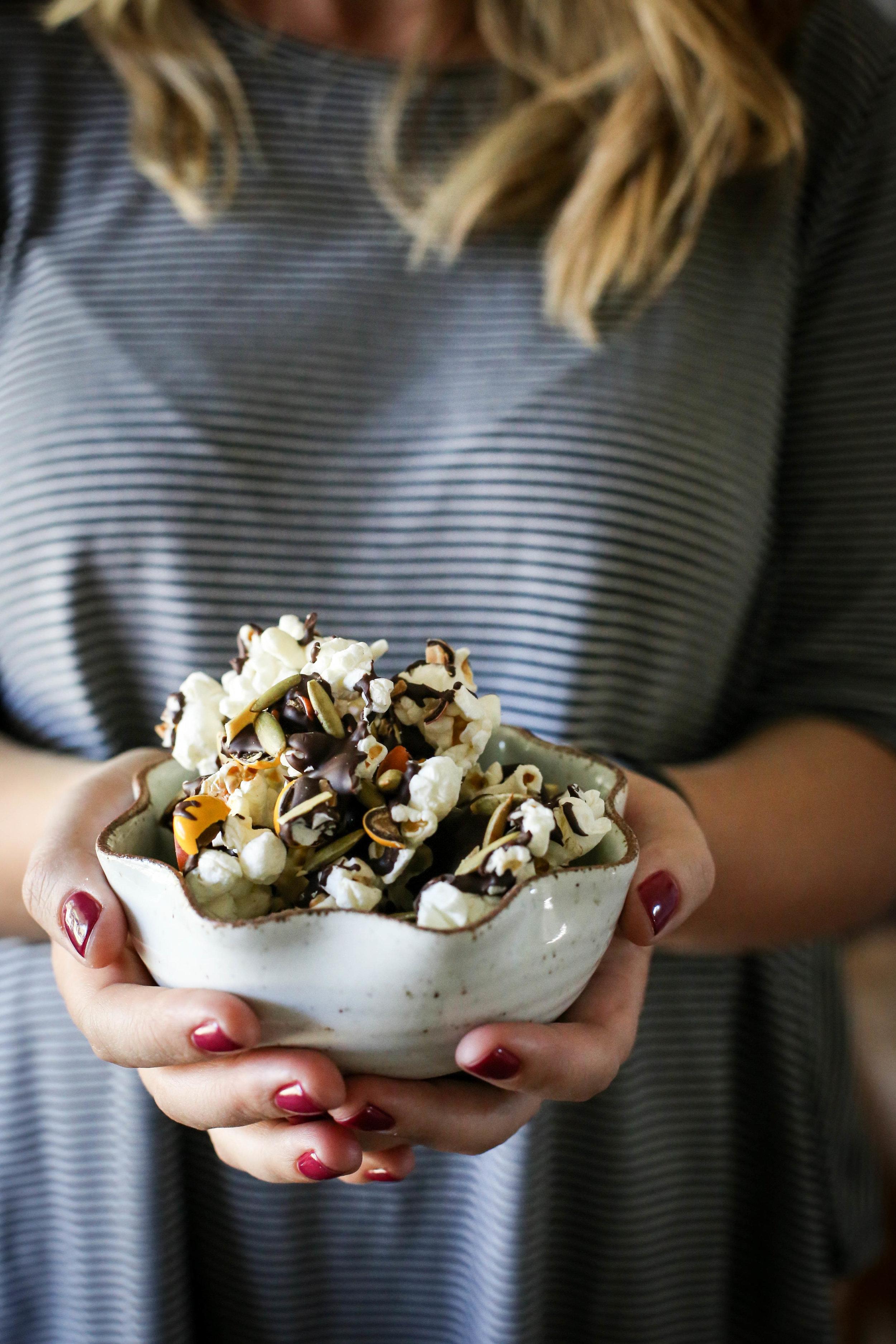 Sweet & Salty Chocolate Peanut Butter Popcorn