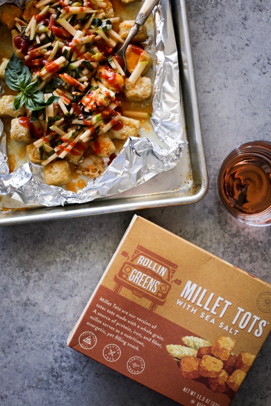 Spicy Asian-Inspired Millet Tachos with Apple Basil Slaw