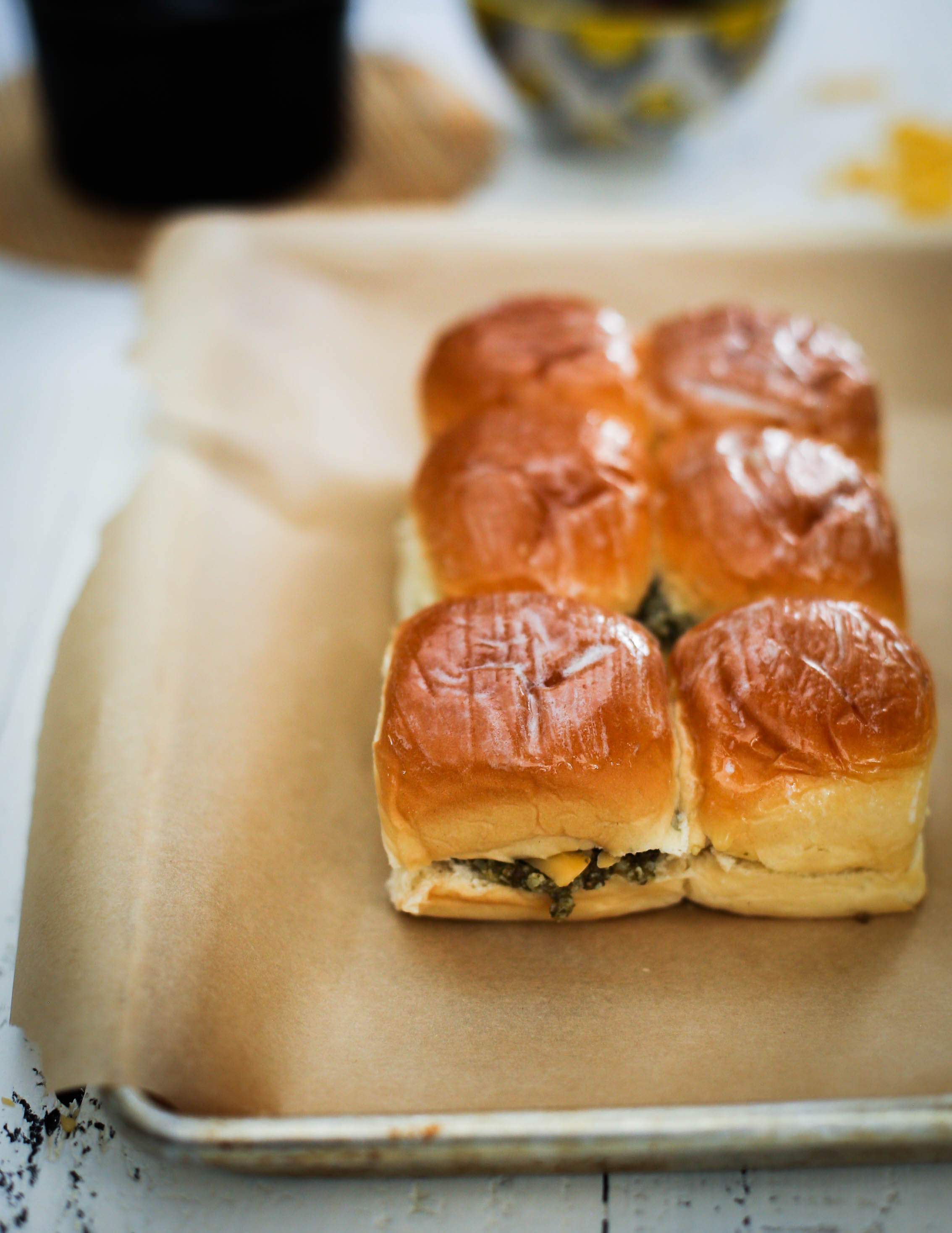 Pesto Grilled Cheese Sliders