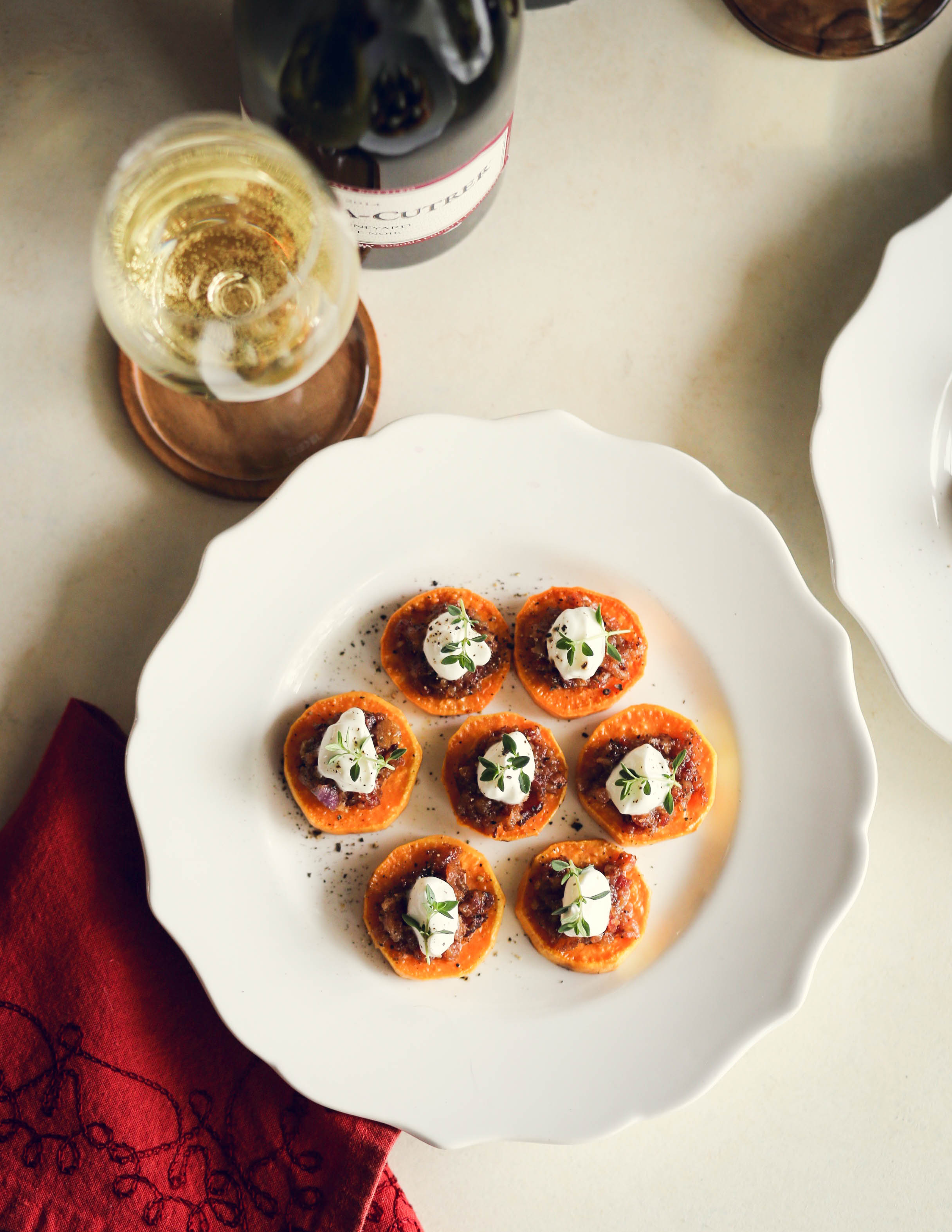 Sweet Potato Medallions with Bacon Jam