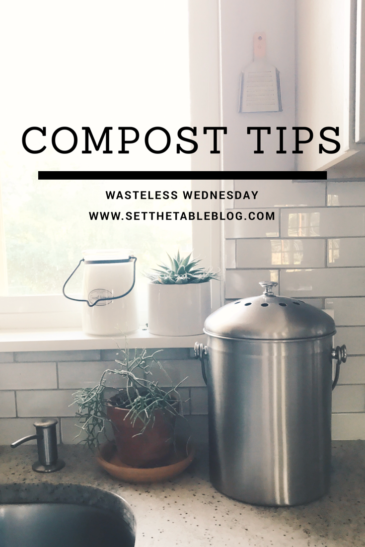 Wasteless Wednesday | Compost Tips :: Not sure where to start with composting your kitchen scraps? It helps to start with an easy system! These TWO TIPS will help you get started on the right foot!