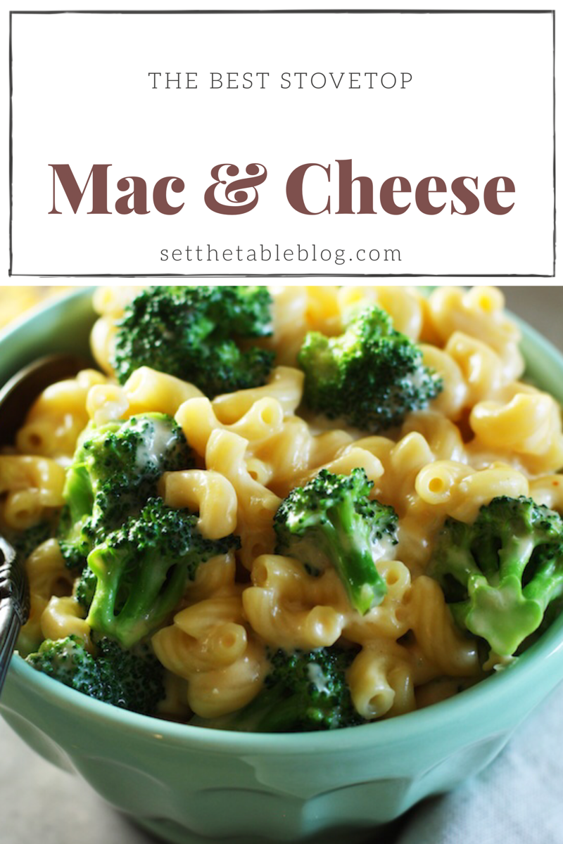 The Best Stovetop Mac & Cheese | Set the Table #macandcheese #macaroniandcheese #kidfriendlymeals #recipe #dinnertonight #comfortfood