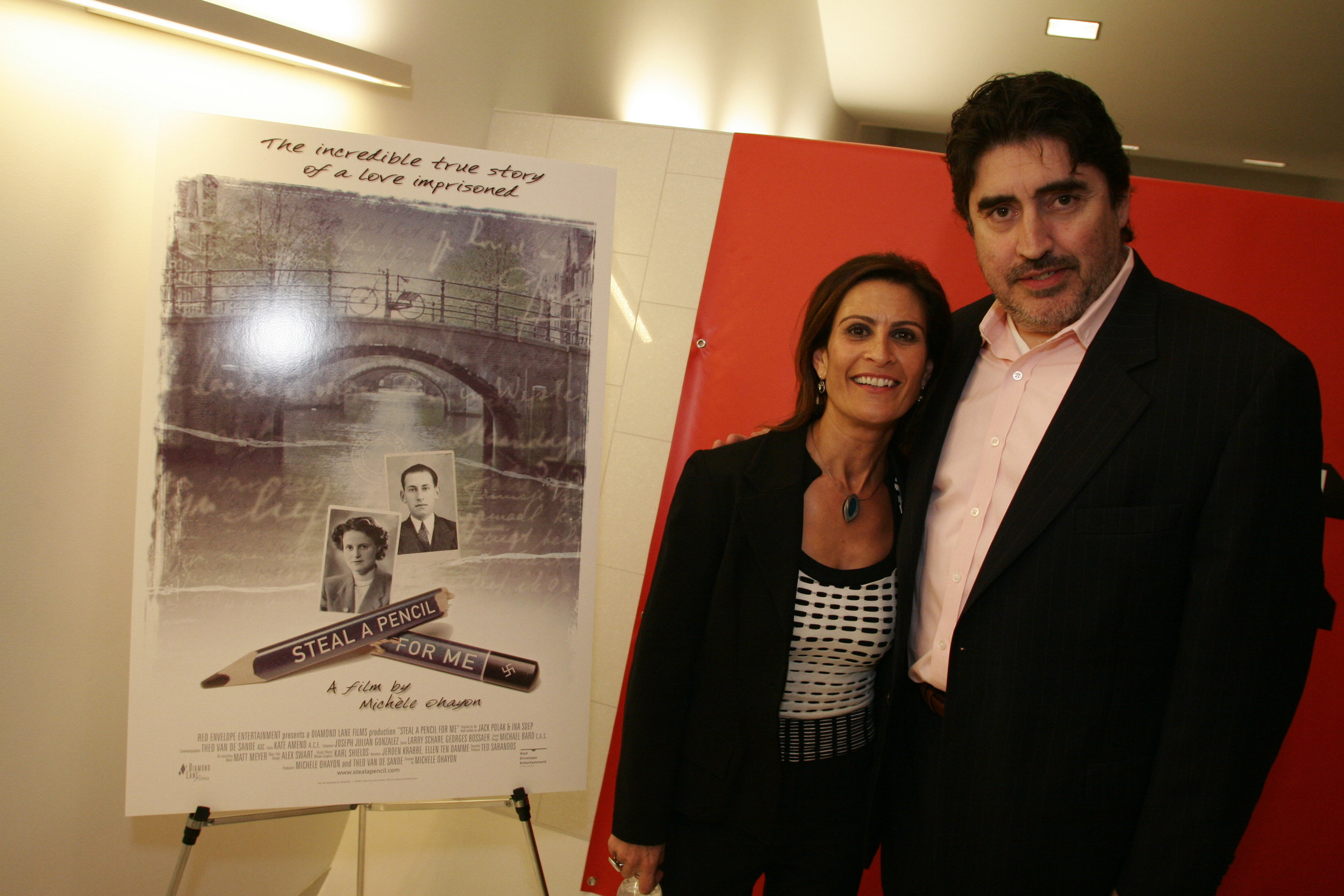 """With Alfred Molina at Michele's Film Premiere of """"Steal a Pencil for me"""""""
