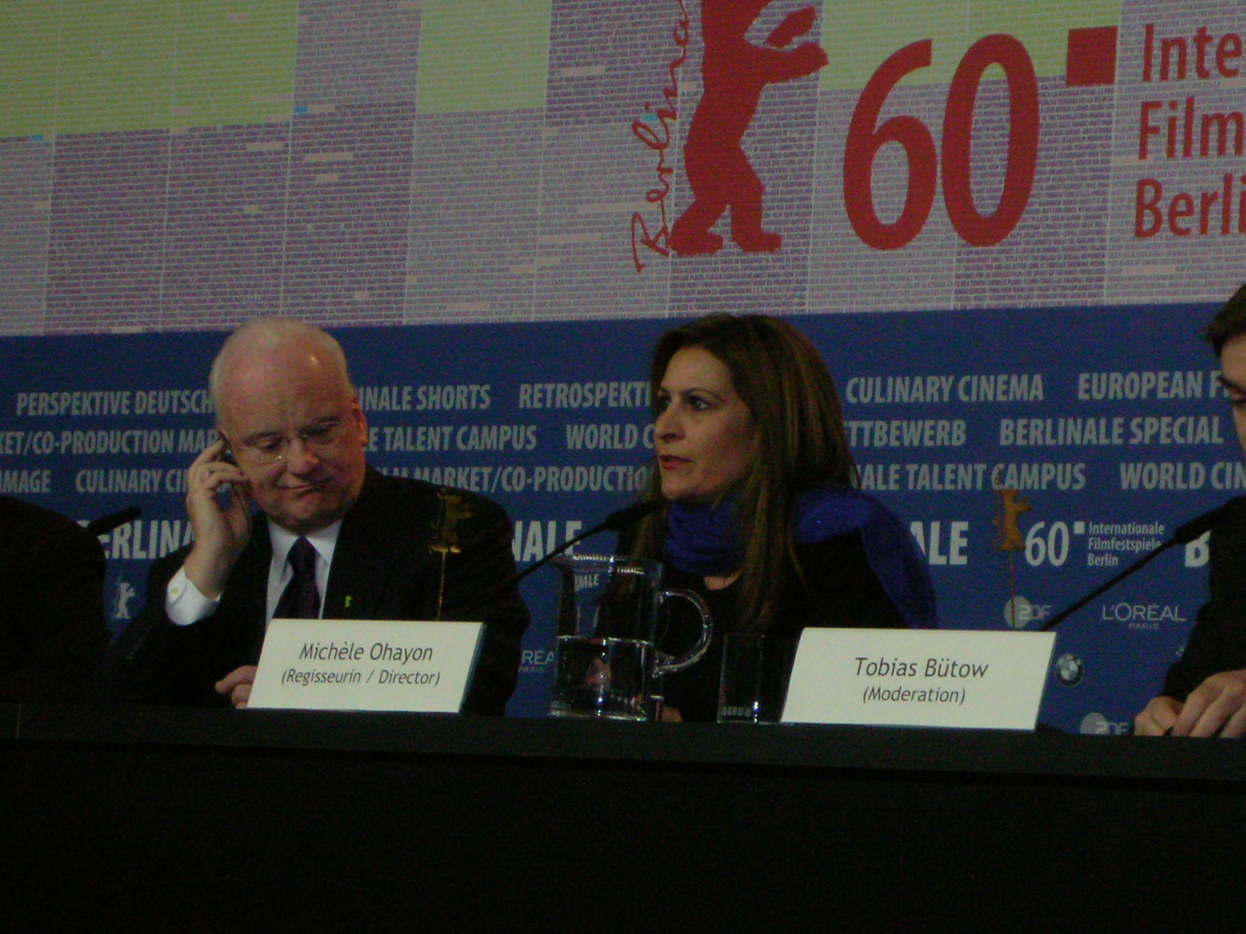 At a press conference with Richard Clarke at Berlin Film Festival