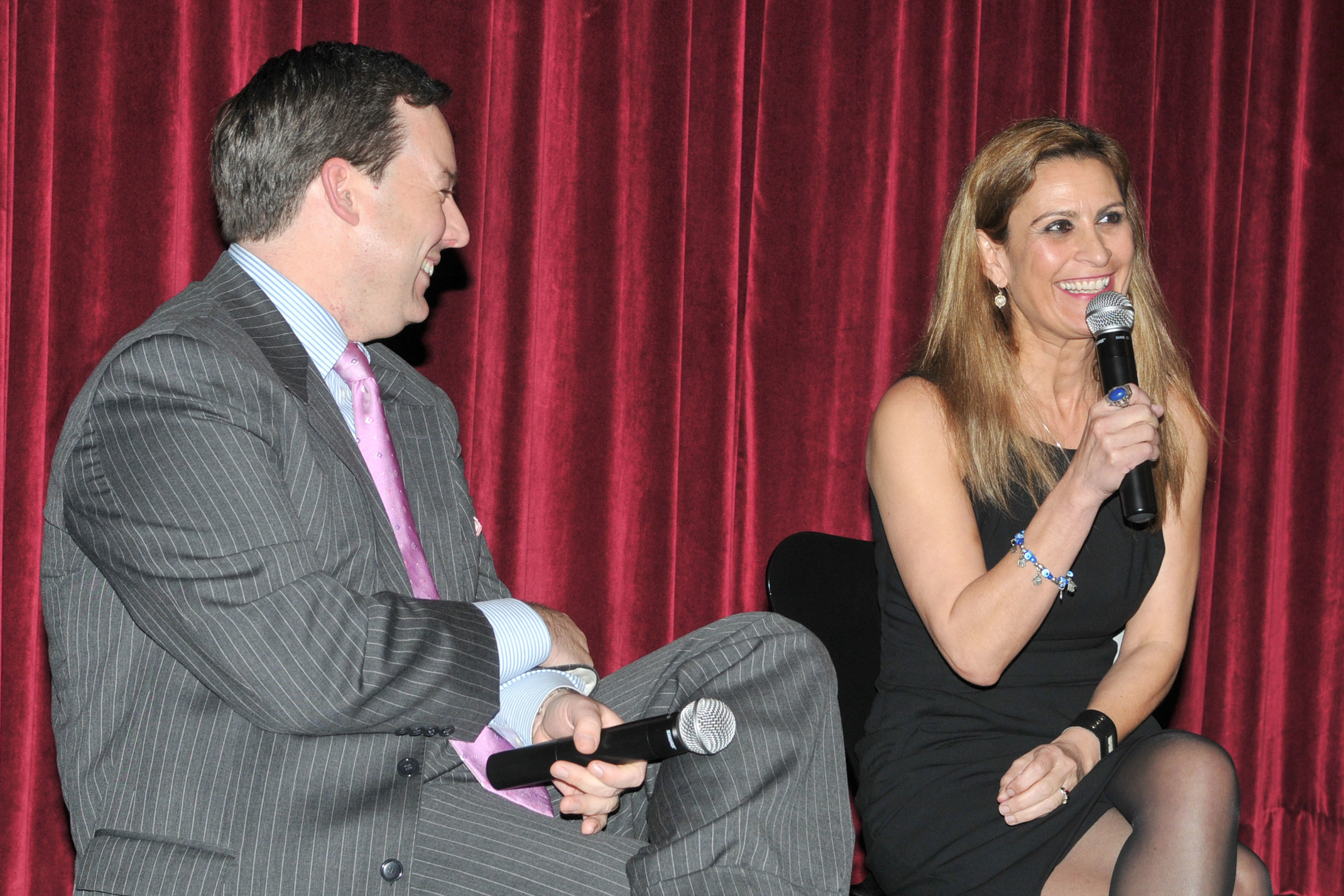 With Ed Henry at the MOMA premiere of Michele Film's S.O.S.