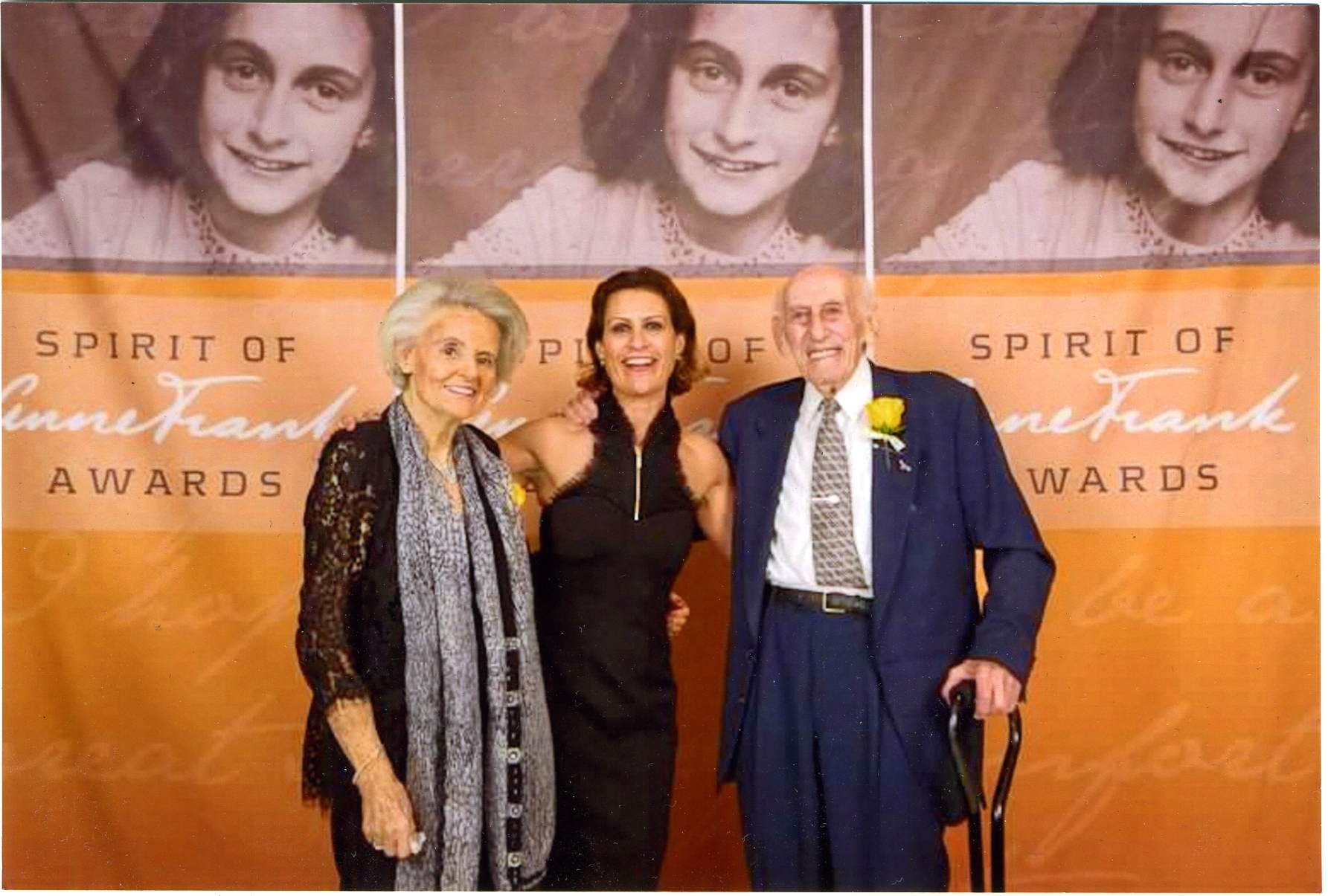 Ohayon at the Anne Frank Awards, NYC