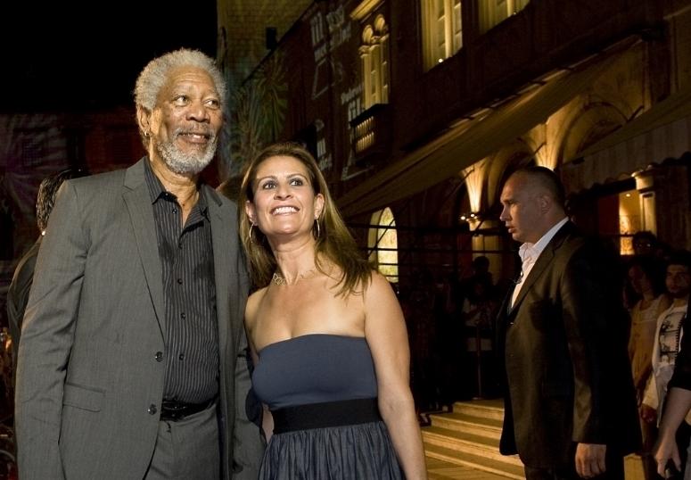 With Morgan Freeman in Sarajevo