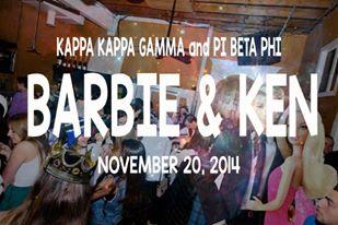 Copy of Kappa Kappa Gamma and Pi Beta Phi- Barbie and Ken (11/20/2014)