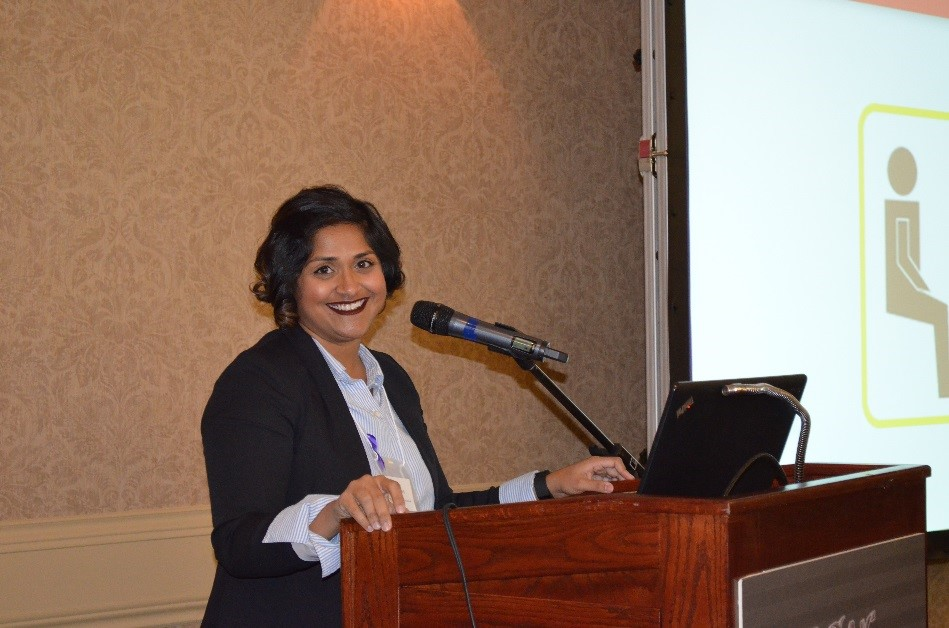 Roselle Gonsalves, Calgary Communities Against Sexual Violence, presenting her session