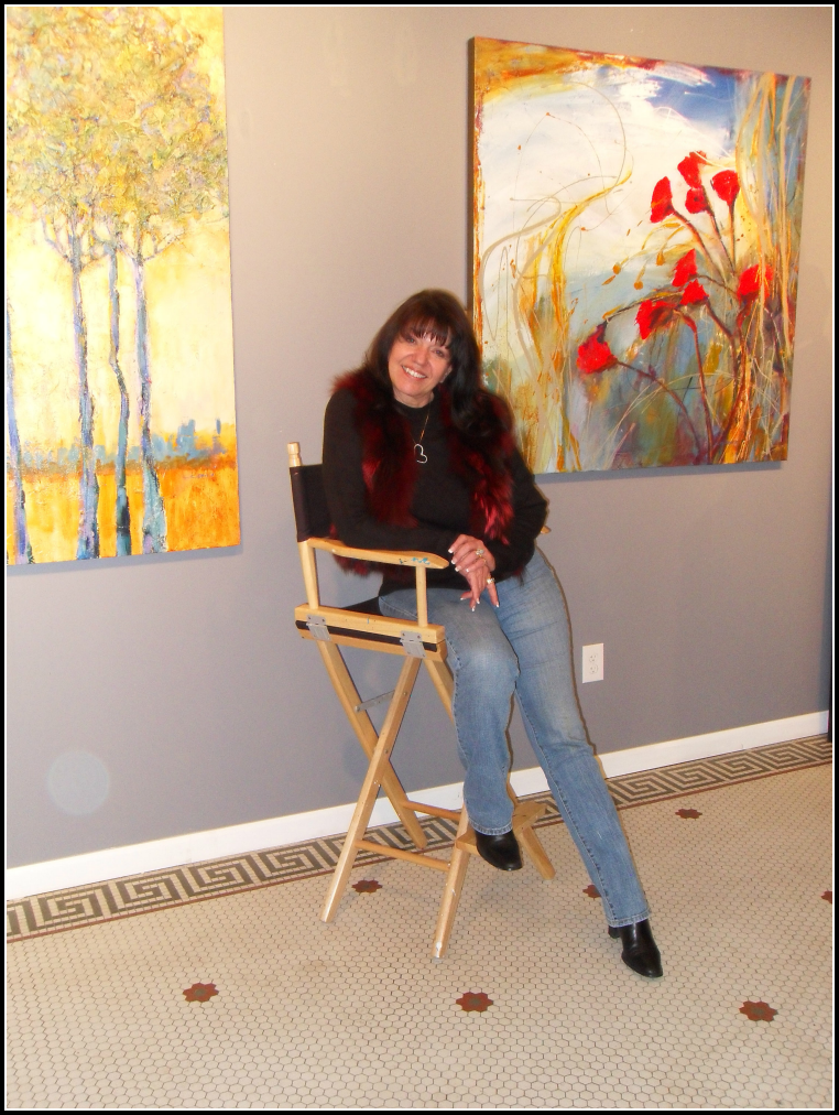C.C. at her former historic gallery in Denver's Art District on Santa Fe.