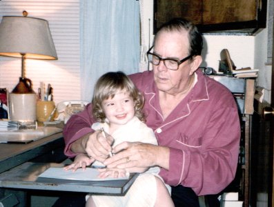 Megan, age 3, and her grandfather, Rev. Noah E. Johns