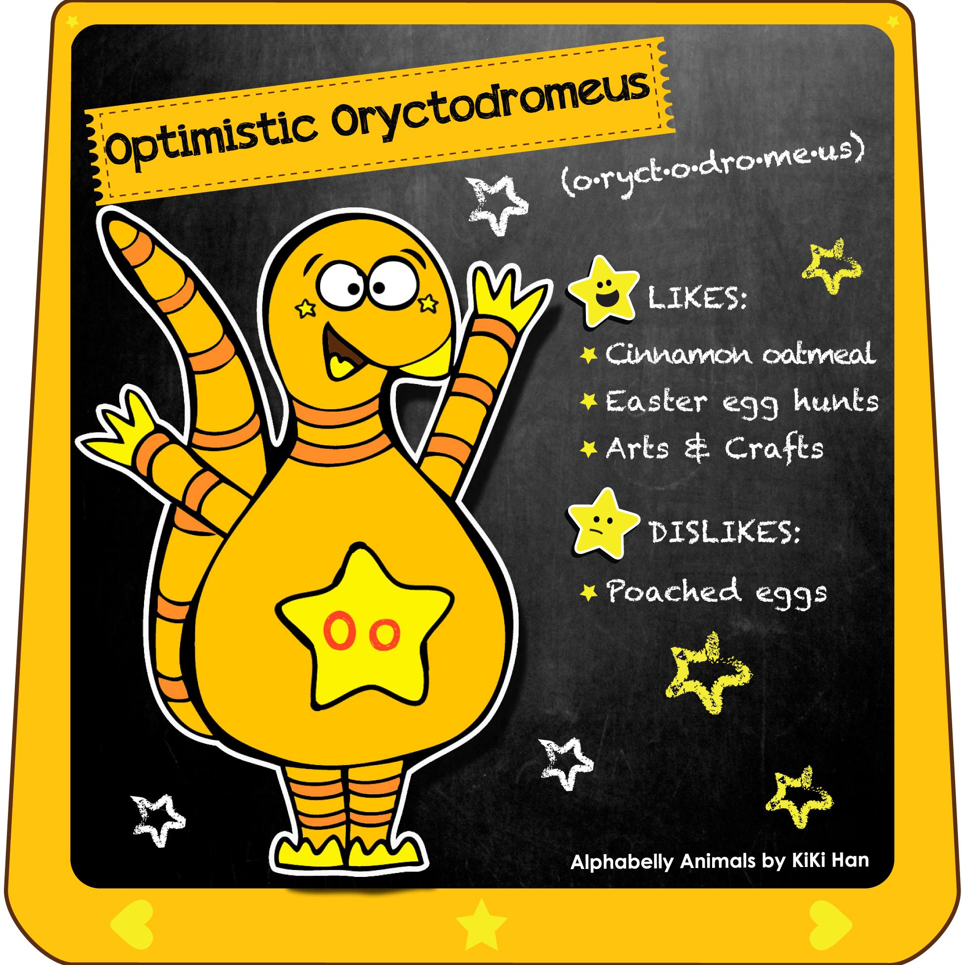 Oryctodromeus I KiKi Han I KiKiHan I GeekyKiKi I Geeky KiKi I Missgeekykiki I Cutiecons I Cutiecon I Cutie Con I Alphabellies I Alphabelly I A to Z Animal Poster