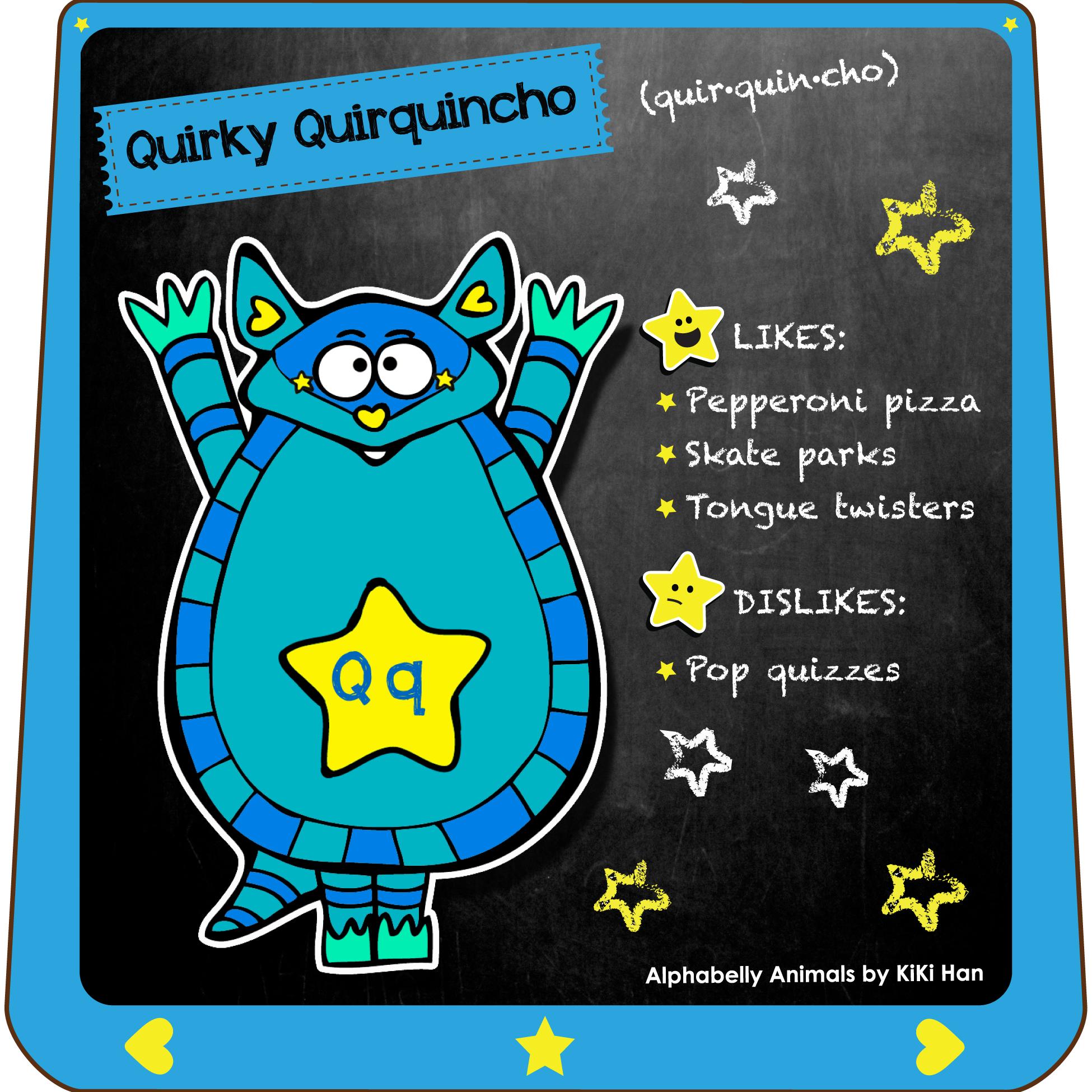 Quirquincho I KiKi Han I KiKiHan I GeekyKiKi I Geeky KiKi I Missgeekykiki I Cutiecons I Cutiecon I Cutie Con I Alphabellies I Alphabelly I A to Z Animal Poster