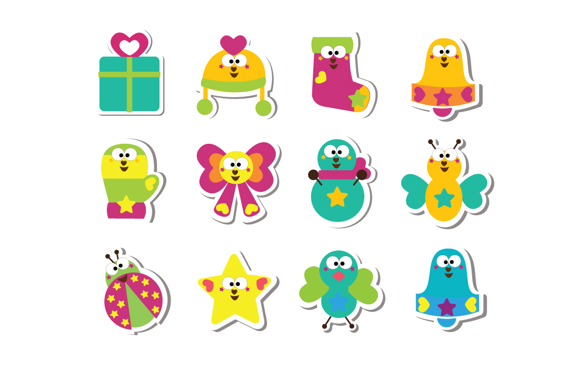 Cutiecon Winter Wonderland Stickers
