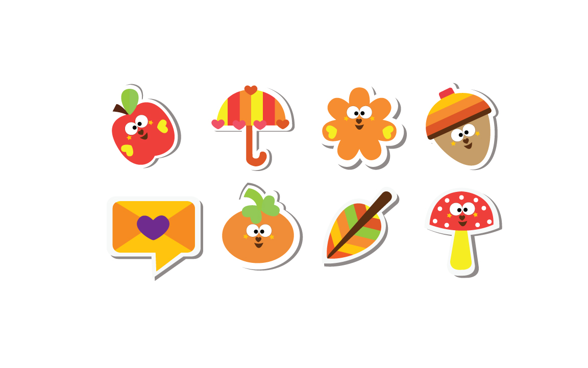Cutiecon Fall into Autumn Stickers