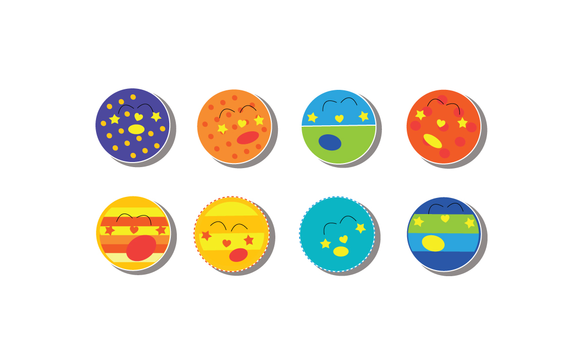 Cutiecon Super Sleepy Solar System Stickers