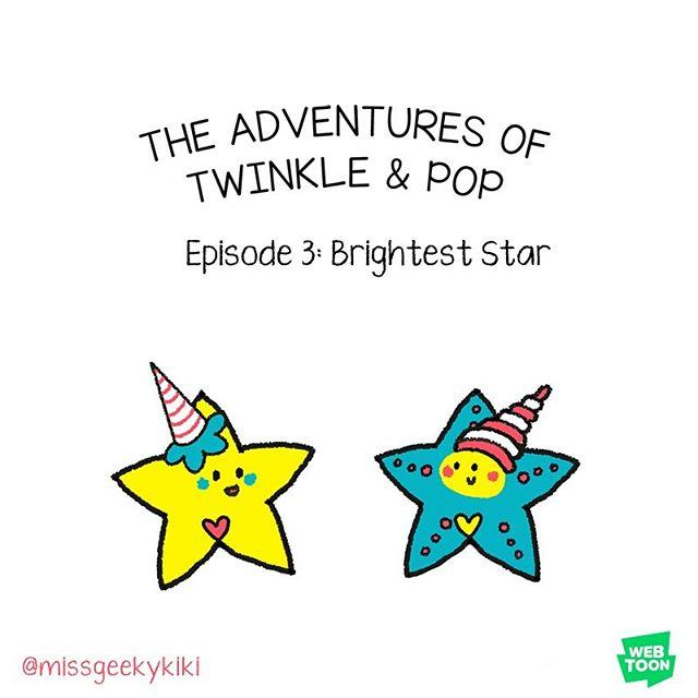 Hi guys!  All 3 episodes of Twinkle & Pop are on Webtoons. Geekykiki is the creator name. 🥳 *** So grateful for all of your wonderful and supportive comments! More cute comics @missgeekykiki *** #webtoon #webtoonedit #webtoonkorea #webtooncomic #geekykiki #cutiecon #cutiecons #bestie #bestiegoals💕 #bffforever #cutecomic #cutedrawing #cuteillustration #dailycomic #kawaiiaf #kawaiicute #kawaii #comicartist #inktober #starfish #brighteststar #shinebright #youreawesome #twinkle #twinkletwinklelittlestar #kidlit #kidlitart #kpopstar #cartoon