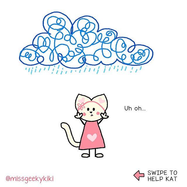 Oh no! It's raining. Could you be so kind to help Little Kat.  Pretty please… *** 💕More cute SWIPE comics @missgeekykiki *** #catcomic #catcartoon #catlovers #catstagram #kittenplay #cutekittens #catdoodle #funnyillustration #funnydrawing  #funnycomics #originalcharacter #sketch_daily #cuteart #drawingtutorial #girldrawing #cuteillustration #cutedrawings #cutechibi #kawaiicute #kawaiistuff #kawaiiaf #cutekawaii #animegirlcute #kawaiiartist #cuteartwork #만화 #kawaii #geekykiki #cutiecon #cutiecons