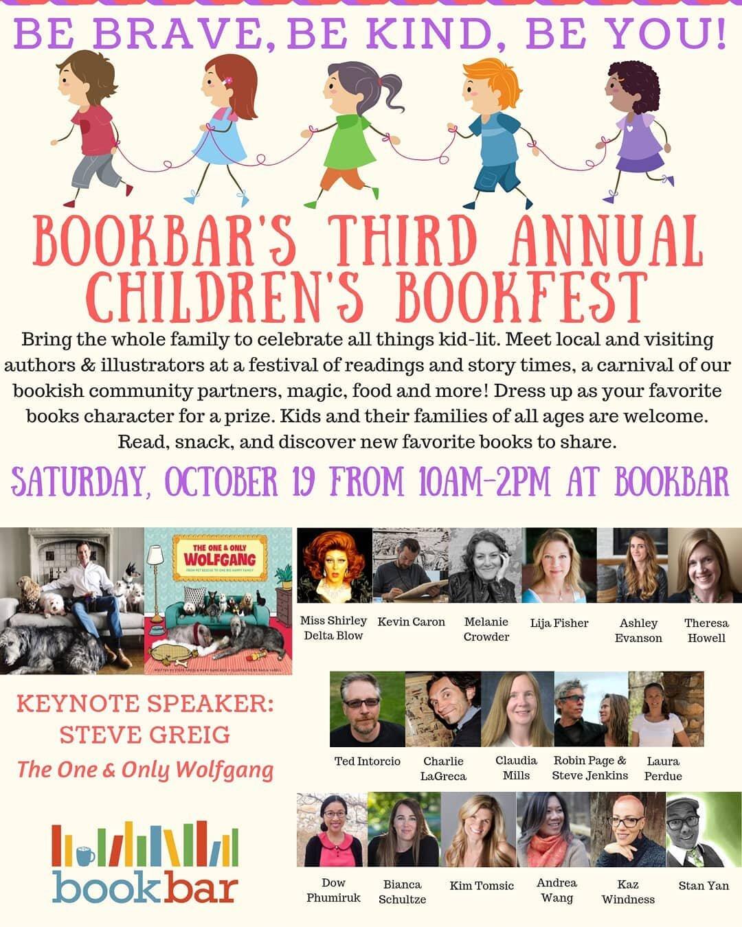 Featured Author - Children's Bookfest 2019, BookBar, Denver CO