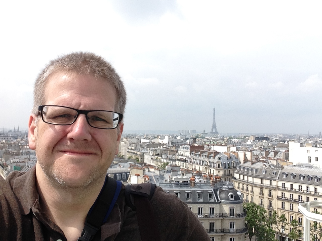 From the rooftop of thePrintemps department store in Paris.