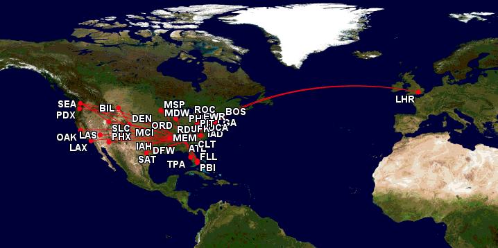 Flights I have taken