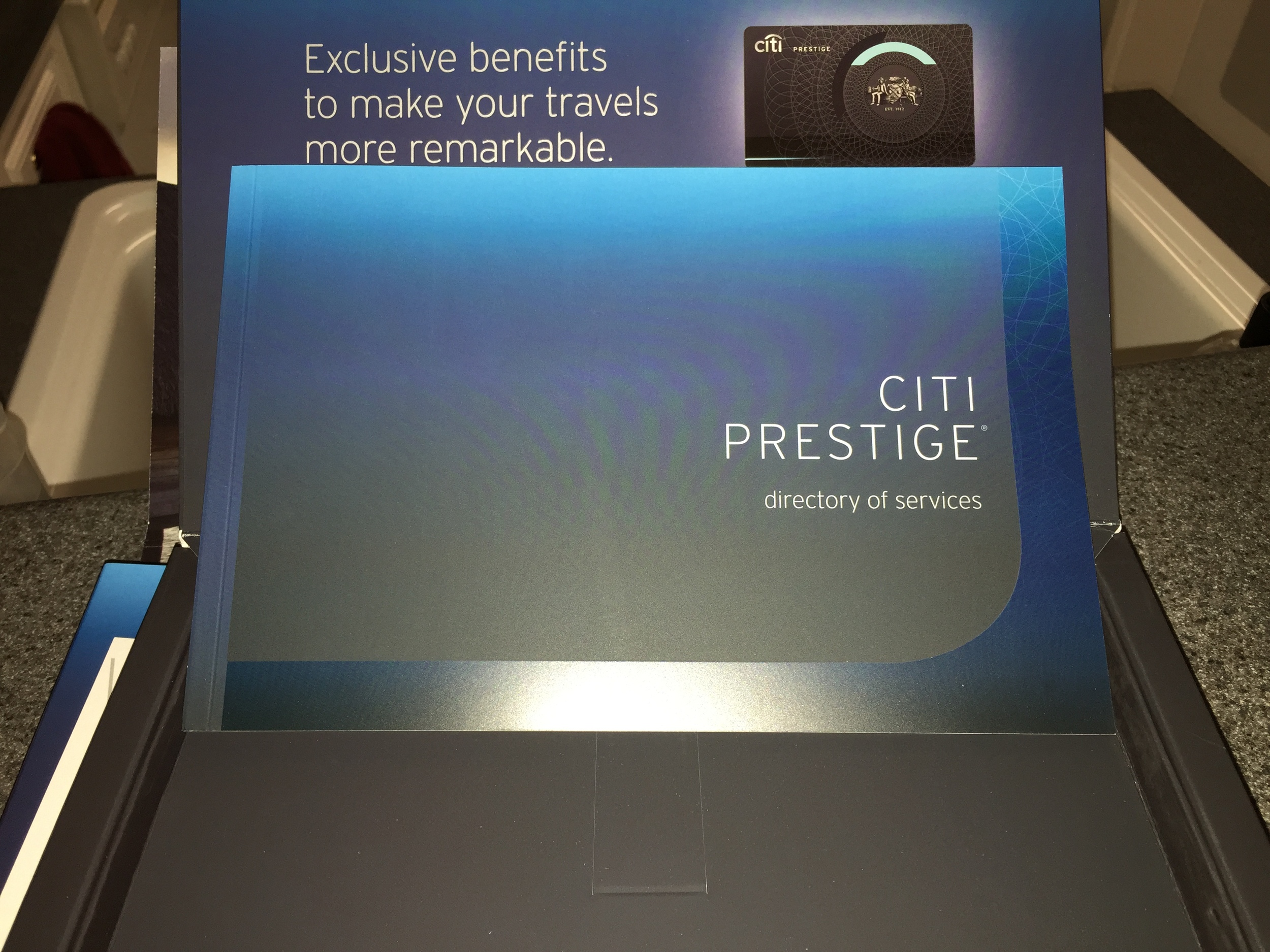Citi Prestige Card documentation  (click to enlarge)