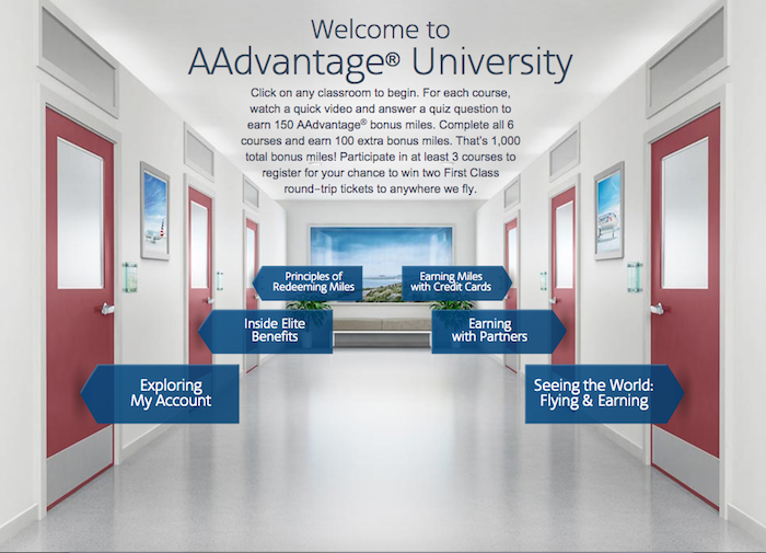 Earn 1,000 by enrolling in AAdvantage University