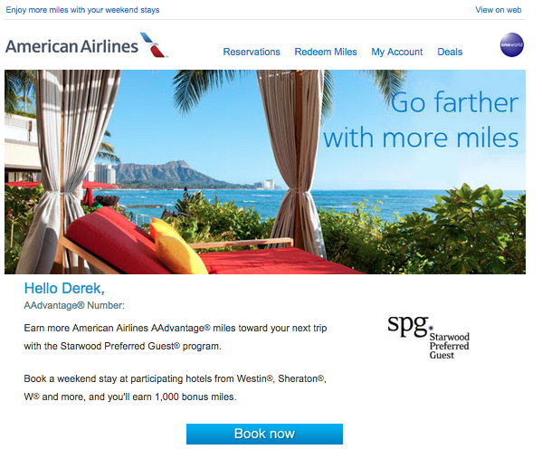 American Airlines and SPG are offering bonus points for weekend stays
