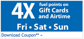 Kroger offered 4x Gas Points on Gift Card Purchases over Labor Day Weekend
