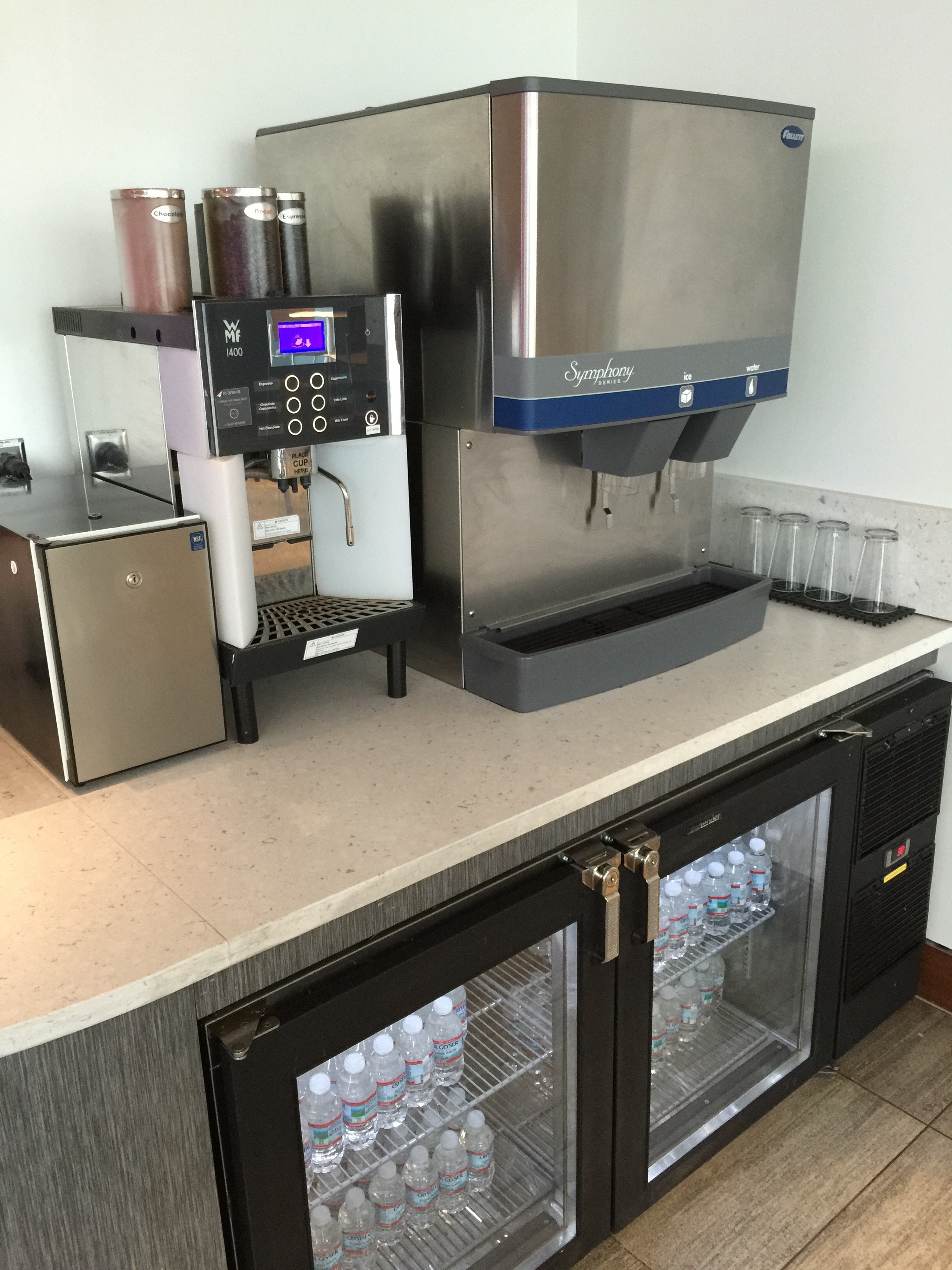 Espresso drinks are self serve  (click to enlarge)