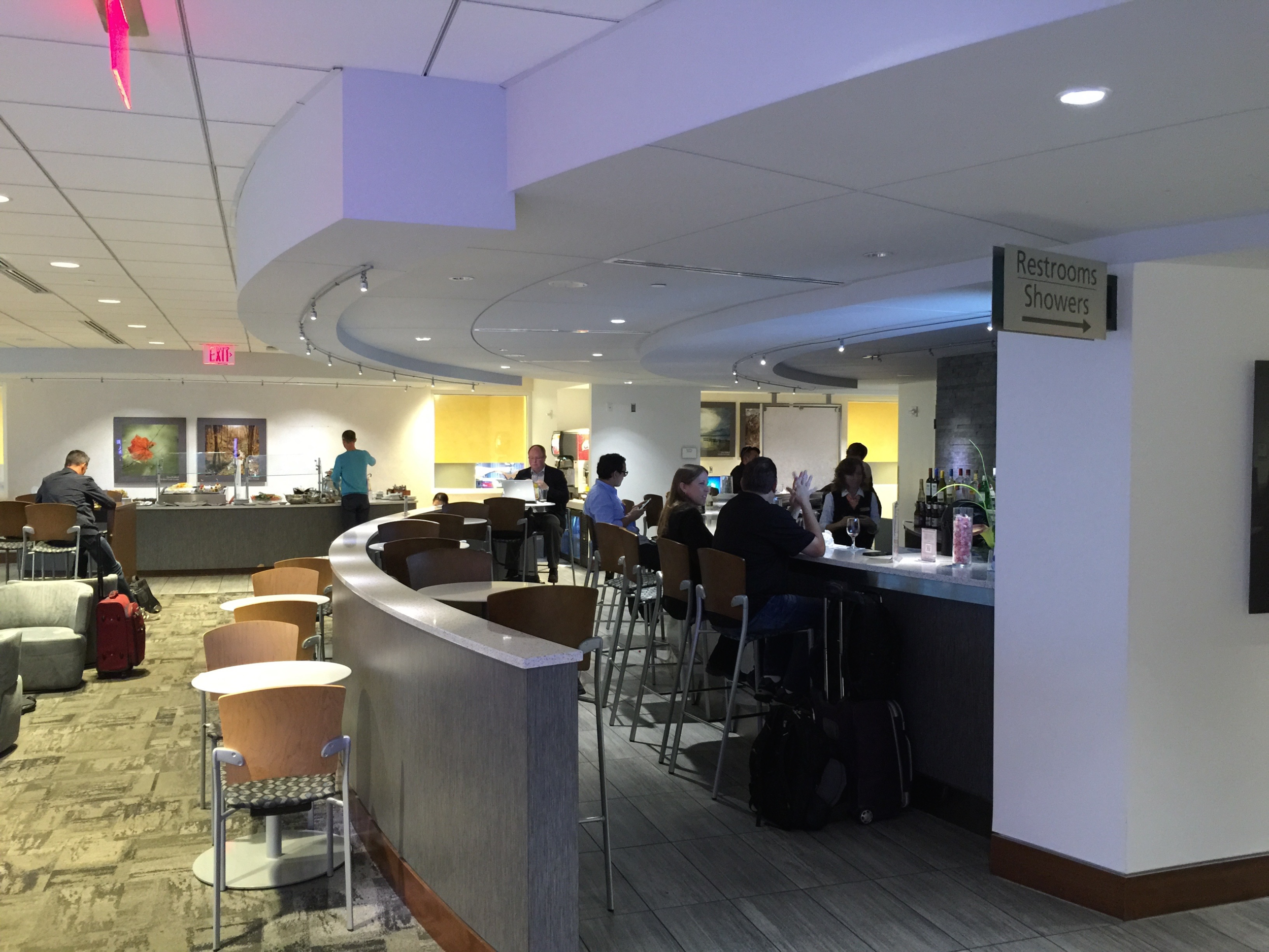The Club at ATL offers a staffed bar