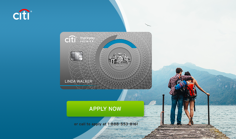 Citi's Thank You Premier web page features the new card design with no magstripe on the front
