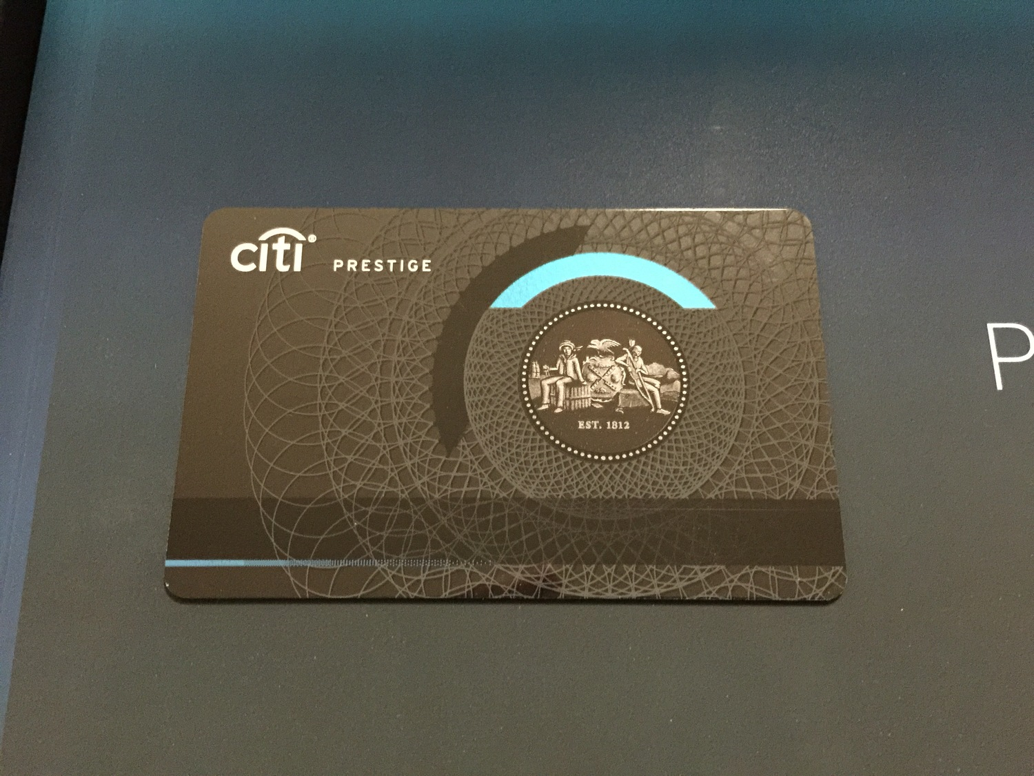 Citi Prestige with magstripe on front  (click to enlarge)