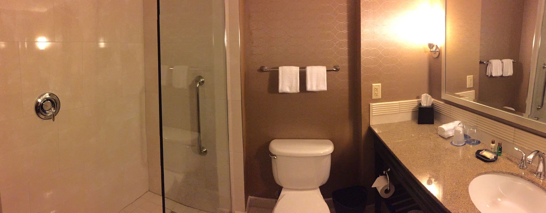 The bathroom was understated and contemporary  (click to enlarge)
