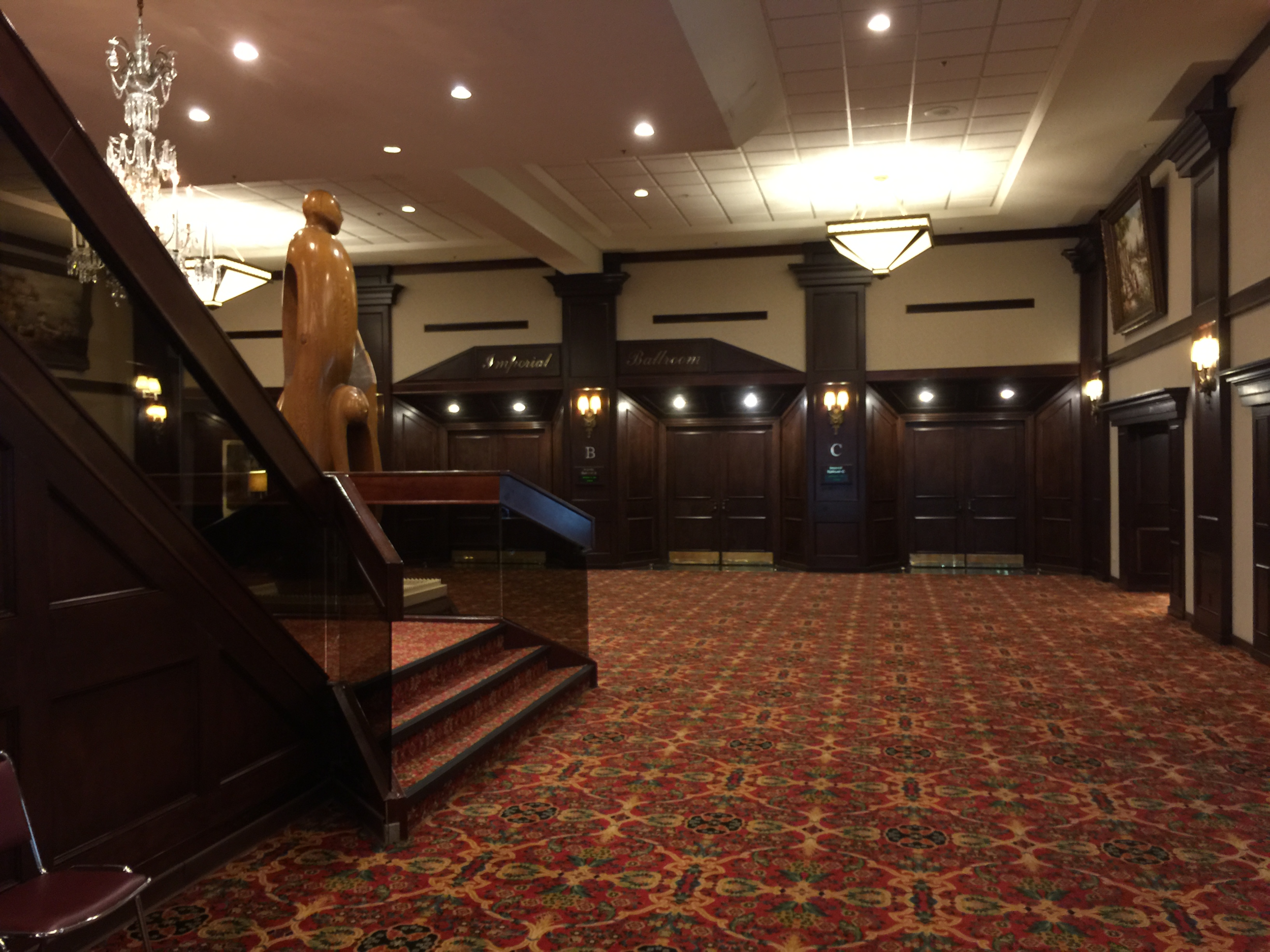 Entrance to one of the hotel meeting facilities