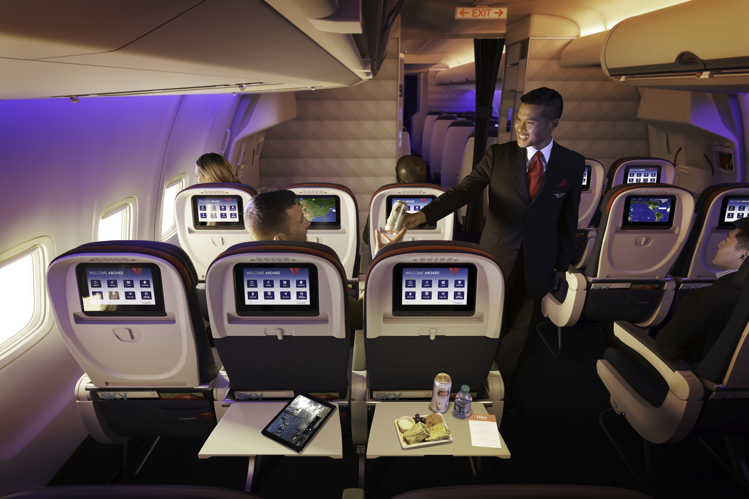 Delta Comfort+ is now bookable as a fare for flights starting May 16,2006