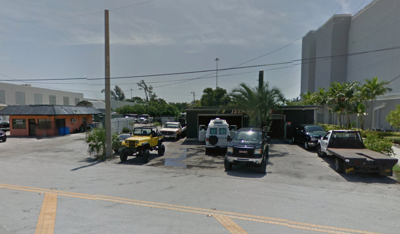 Silvercar's Fort Lauderdale facility (shown with earlier tenant at the address)   Photo Credit: Google Street View