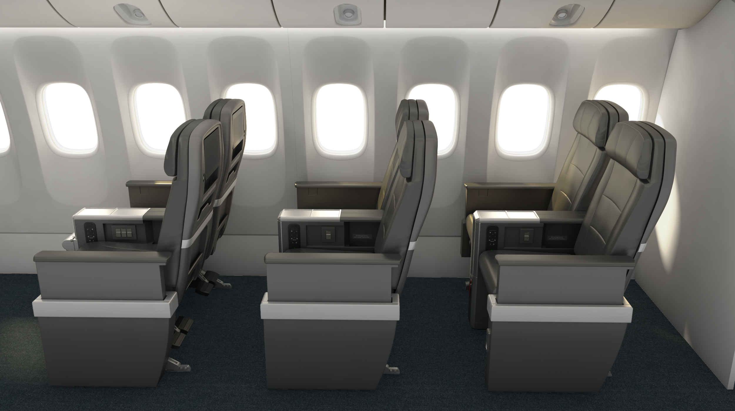 Premium Economy seats will be similar to domestic First Class  (Photo: American Airlines)