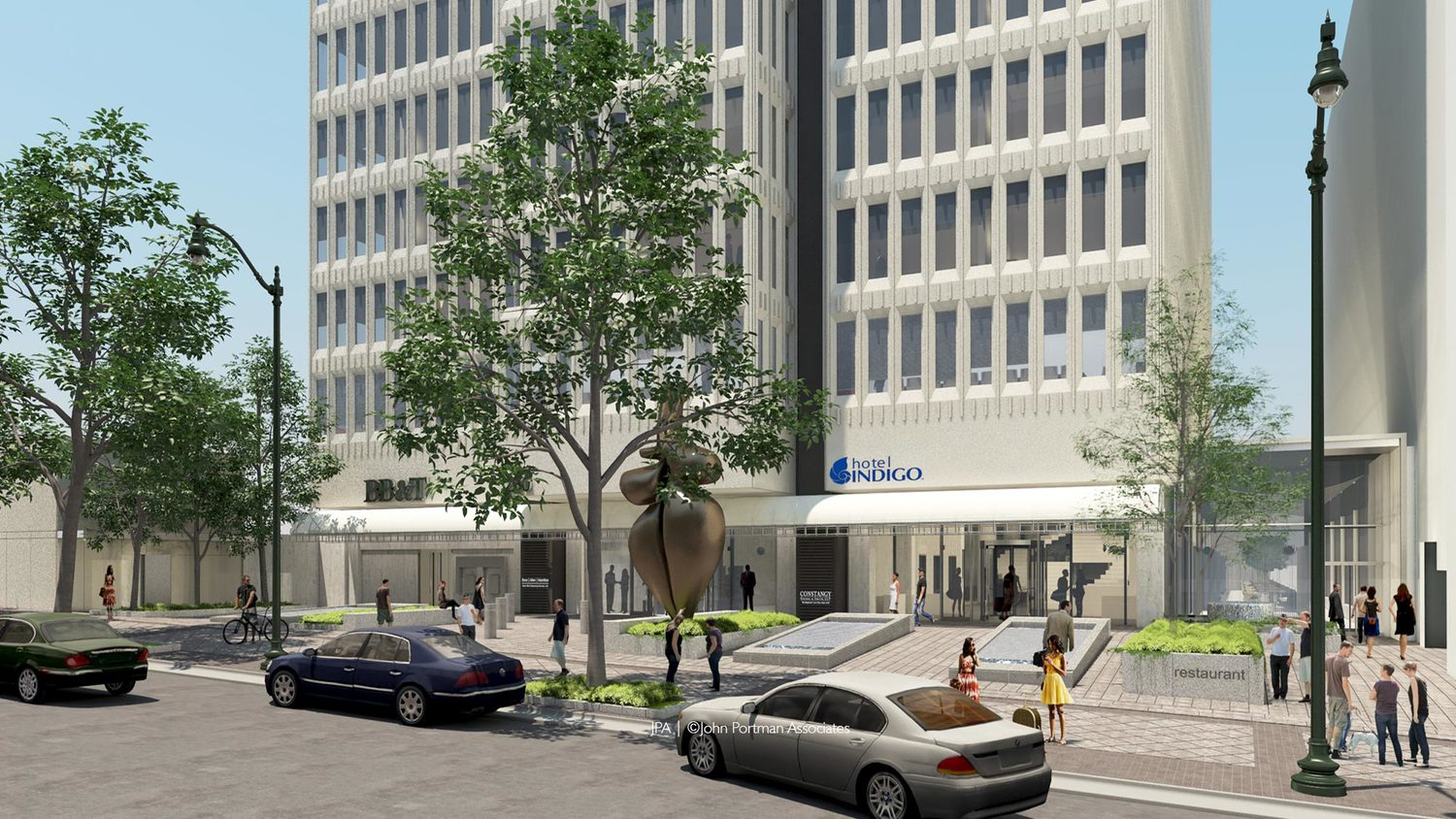 Downtown Atlanta's Hotel Indigo is a renovated office building in Peachtree Center  (Photo: Portman Holdings)