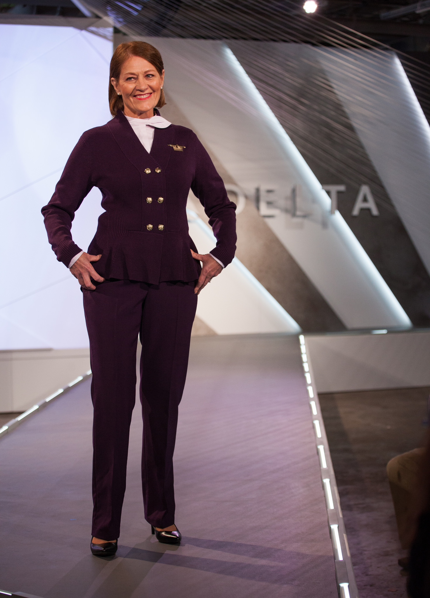 In-flight and airport customer service uniform