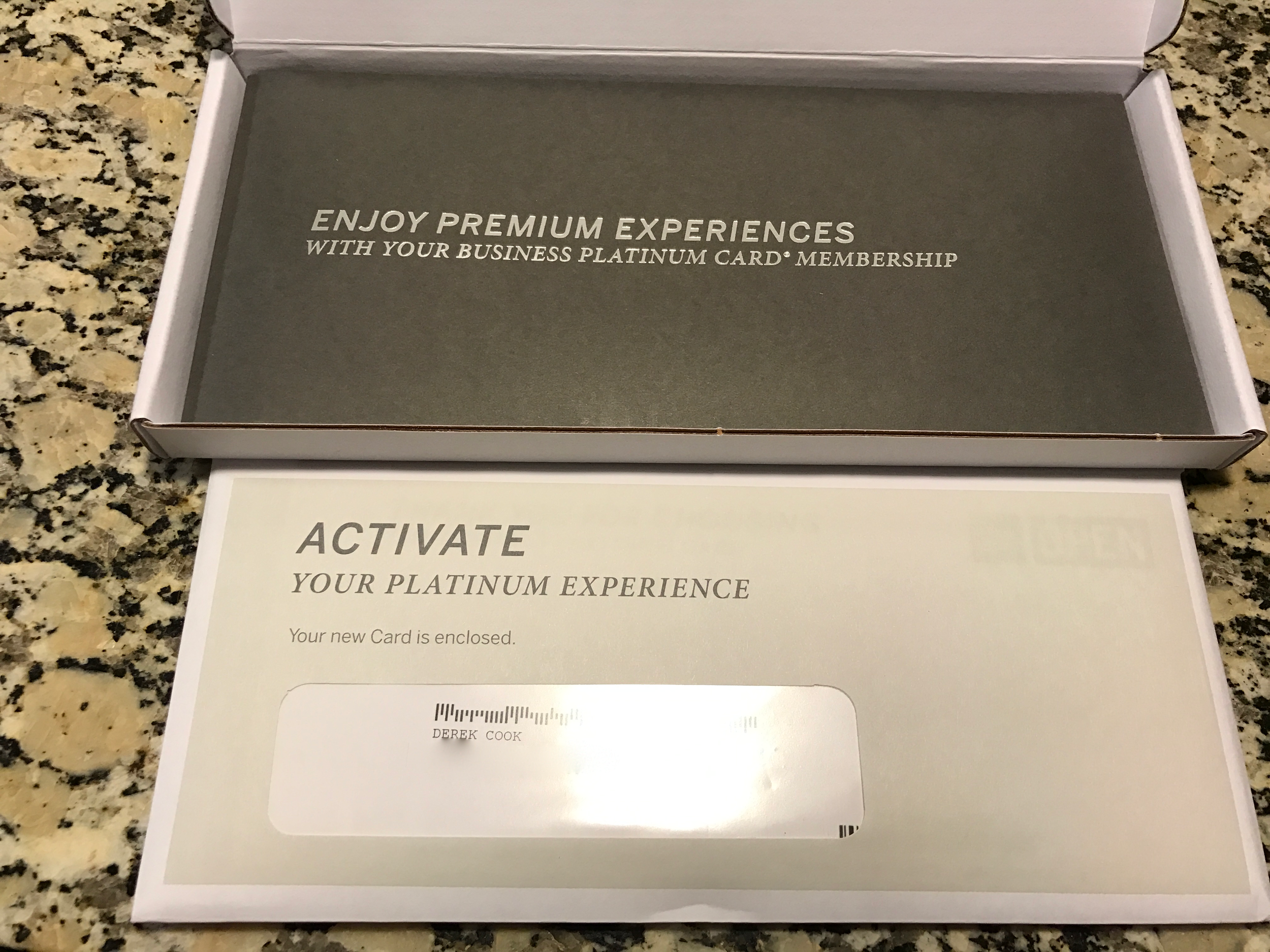 Inside the box is an envelope with the card and a glossy booklet reviewing the card features.  (click to enlarge)