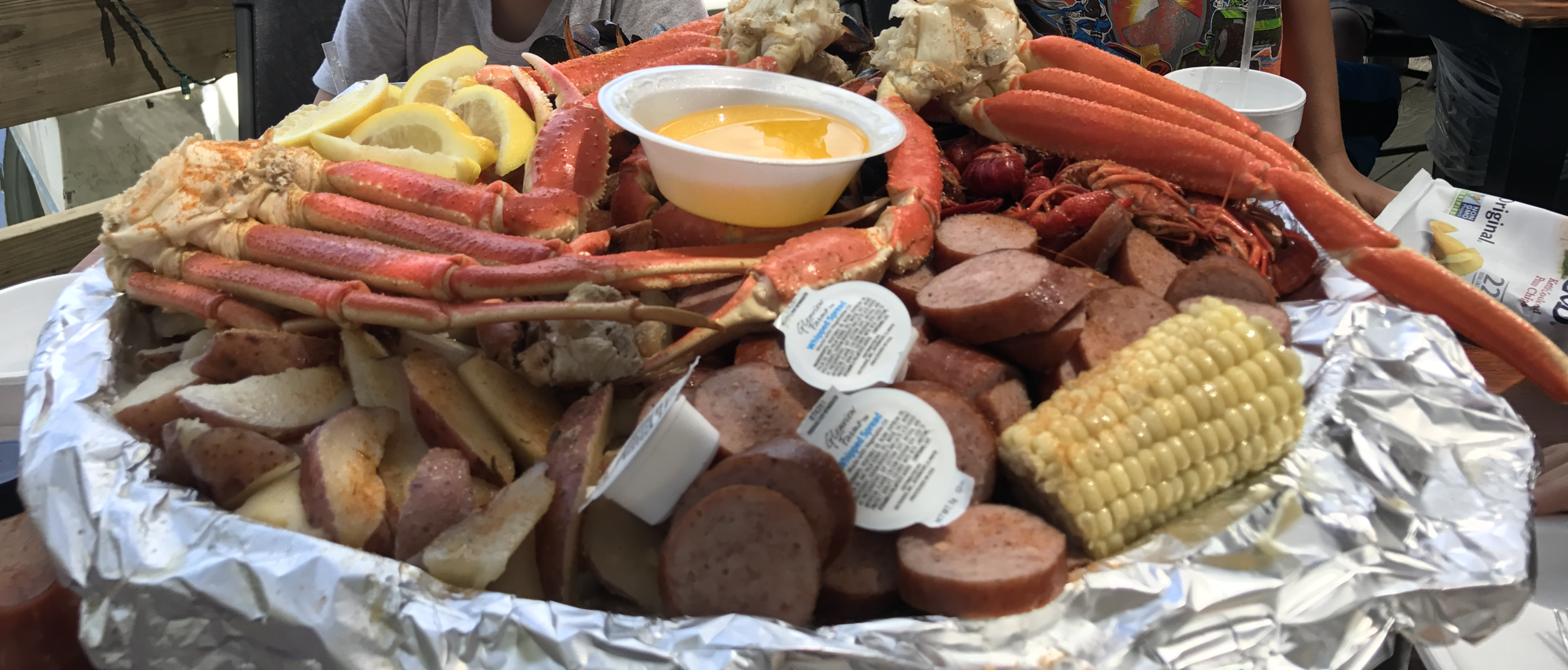 Feast on a low country boil at The Crab Shack on Tybee Island.  (click enlarge)