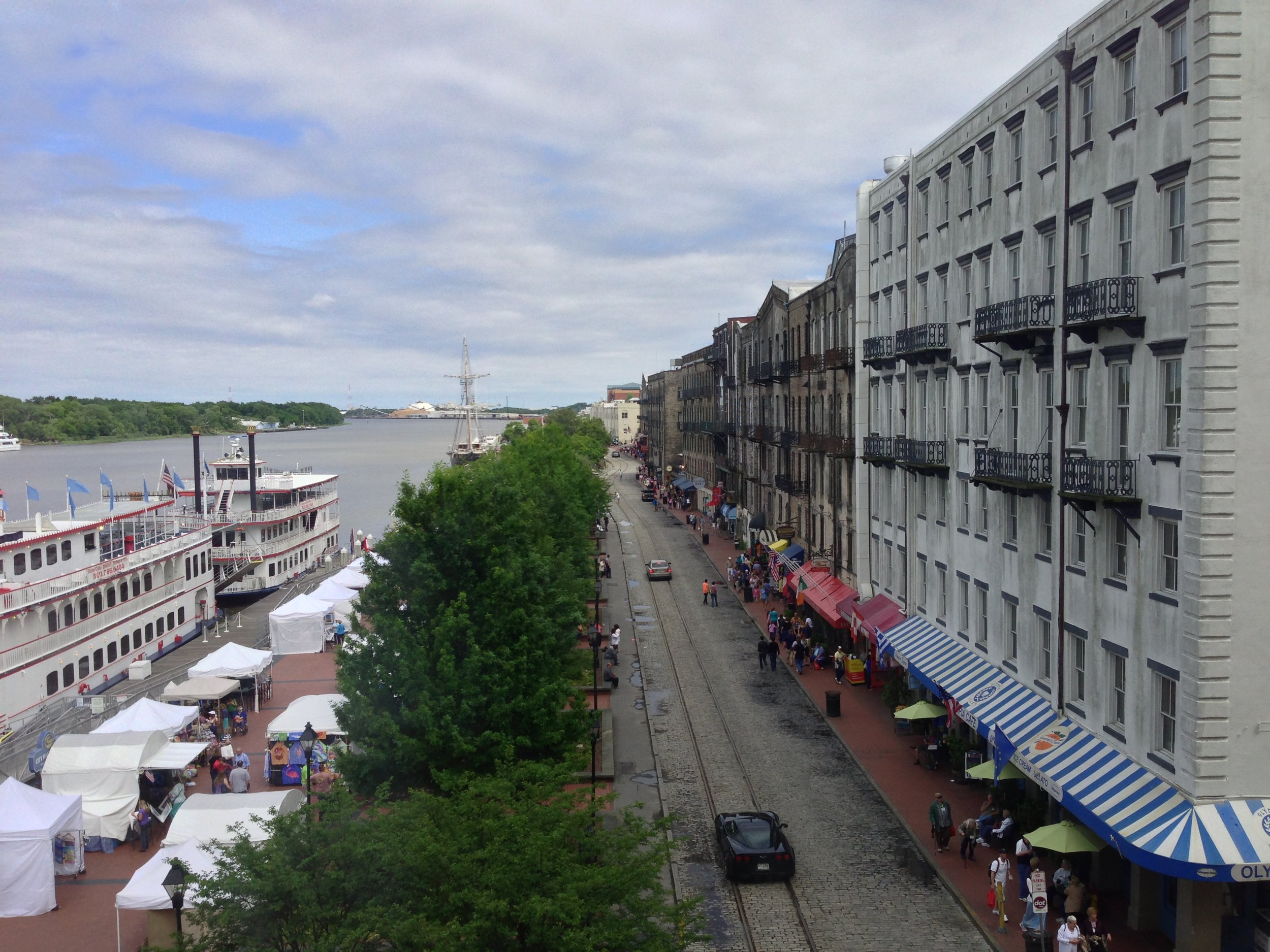 Stroll historic River Street along the Savannah River.  (click to enlarge)