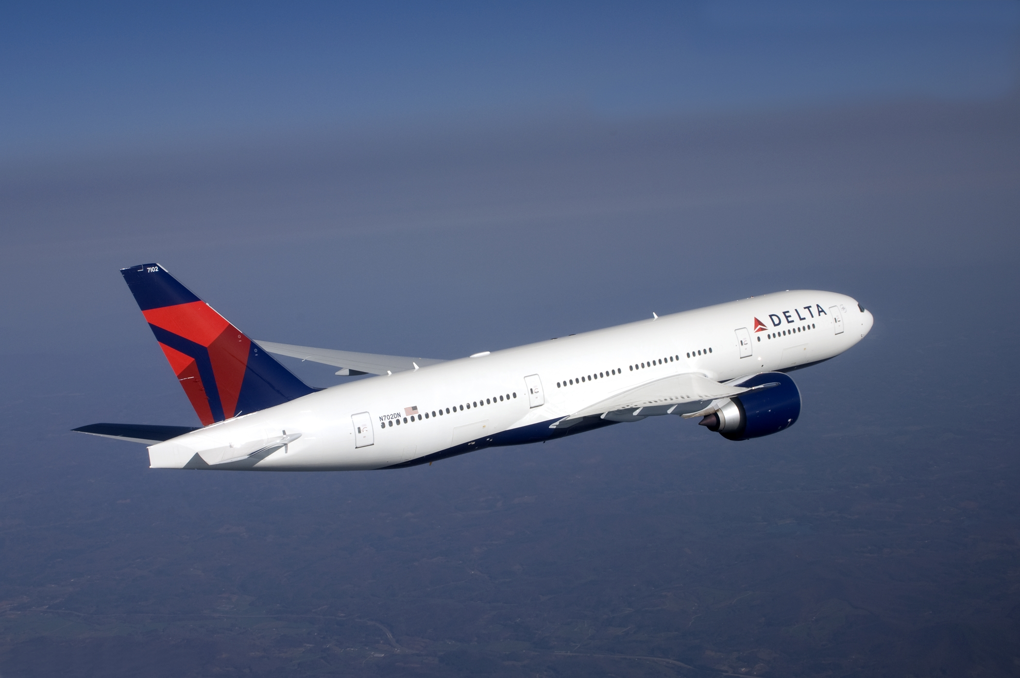 Delta will launch service between Atlanta and Shanghai in July 2018 using a Boeing 777-200LR  ( Photo: Delta Air Line ) (click to enlarge)