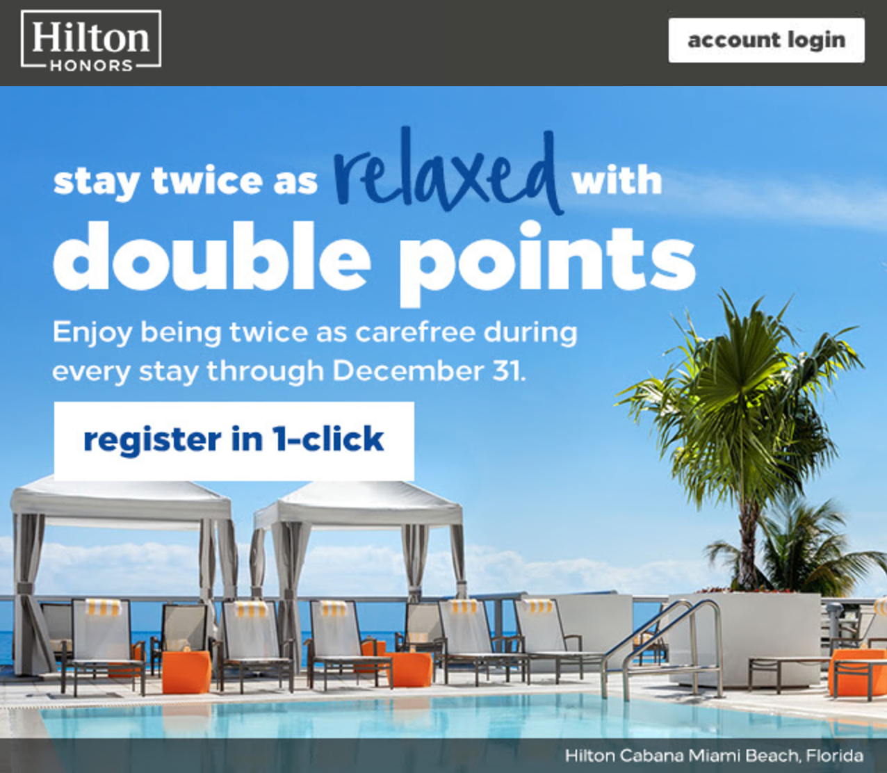 Hilton's latest promotion offers double points on stays this fall