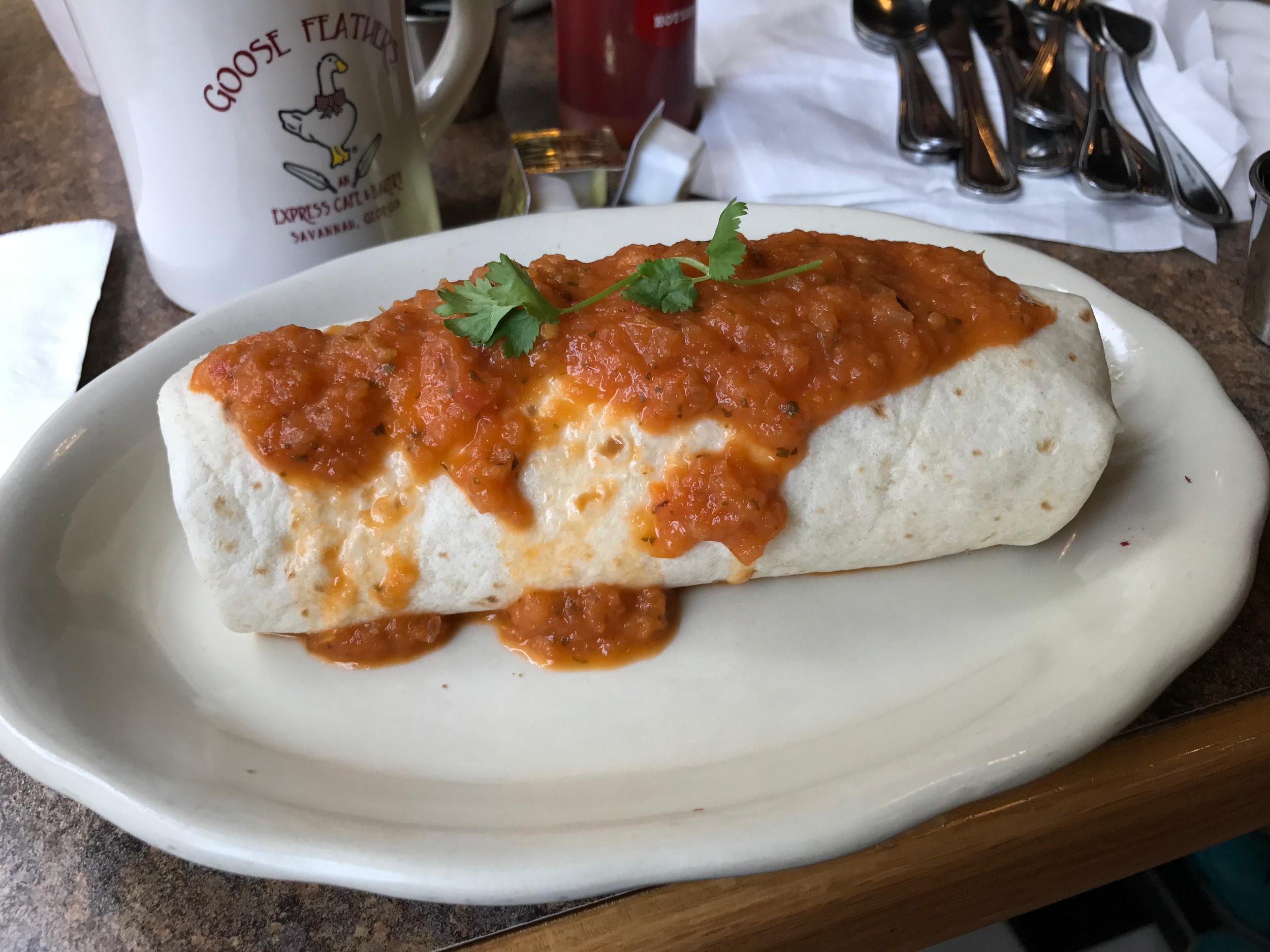 I had a tasty breakfast burrito.  (click to enlarge)
