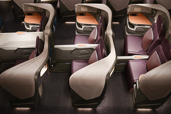 Singapore Airlines new A380 Business class