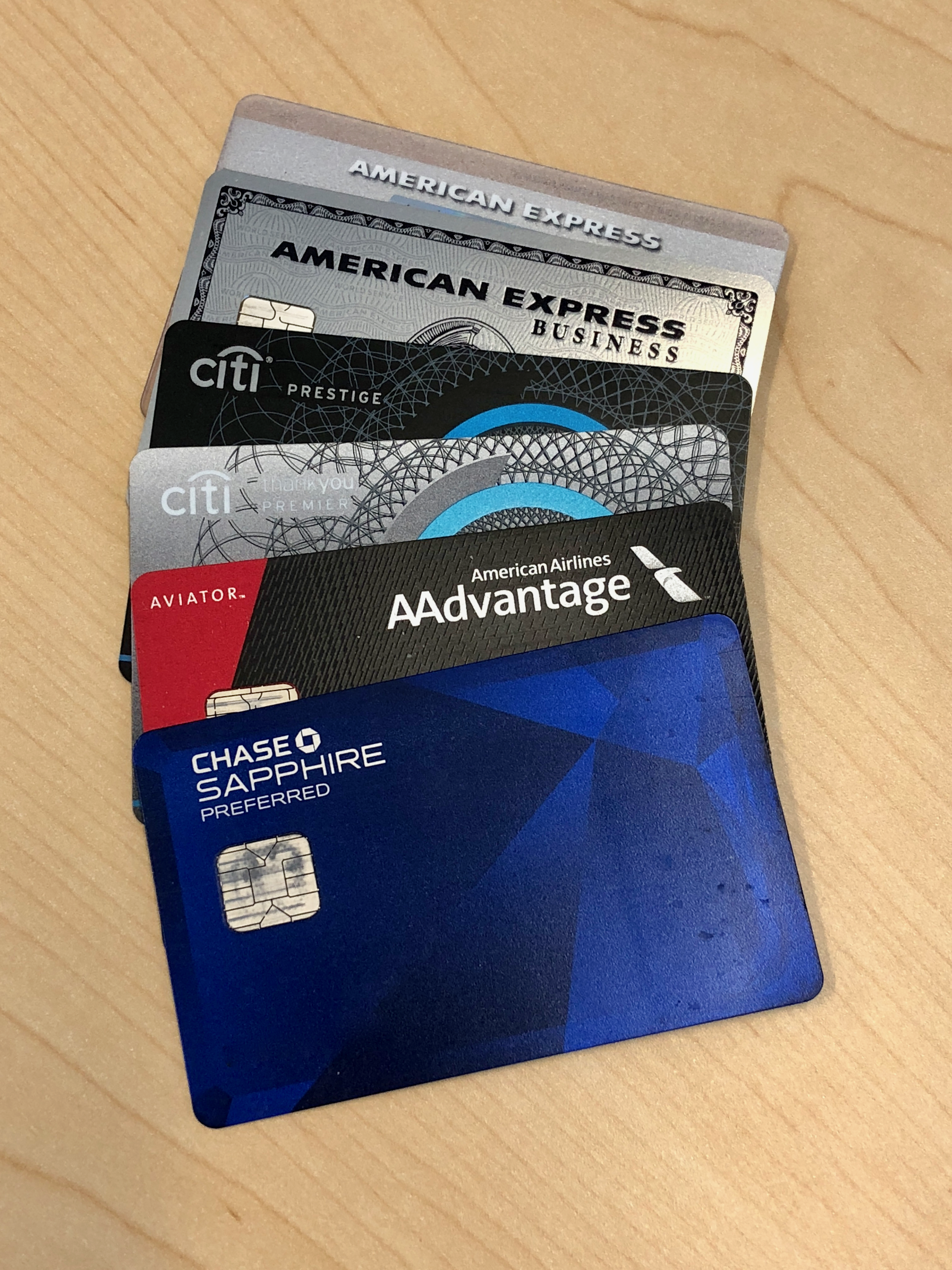 The cards I currently carry in my wallet are only a small part of my overall credit card portfolio!