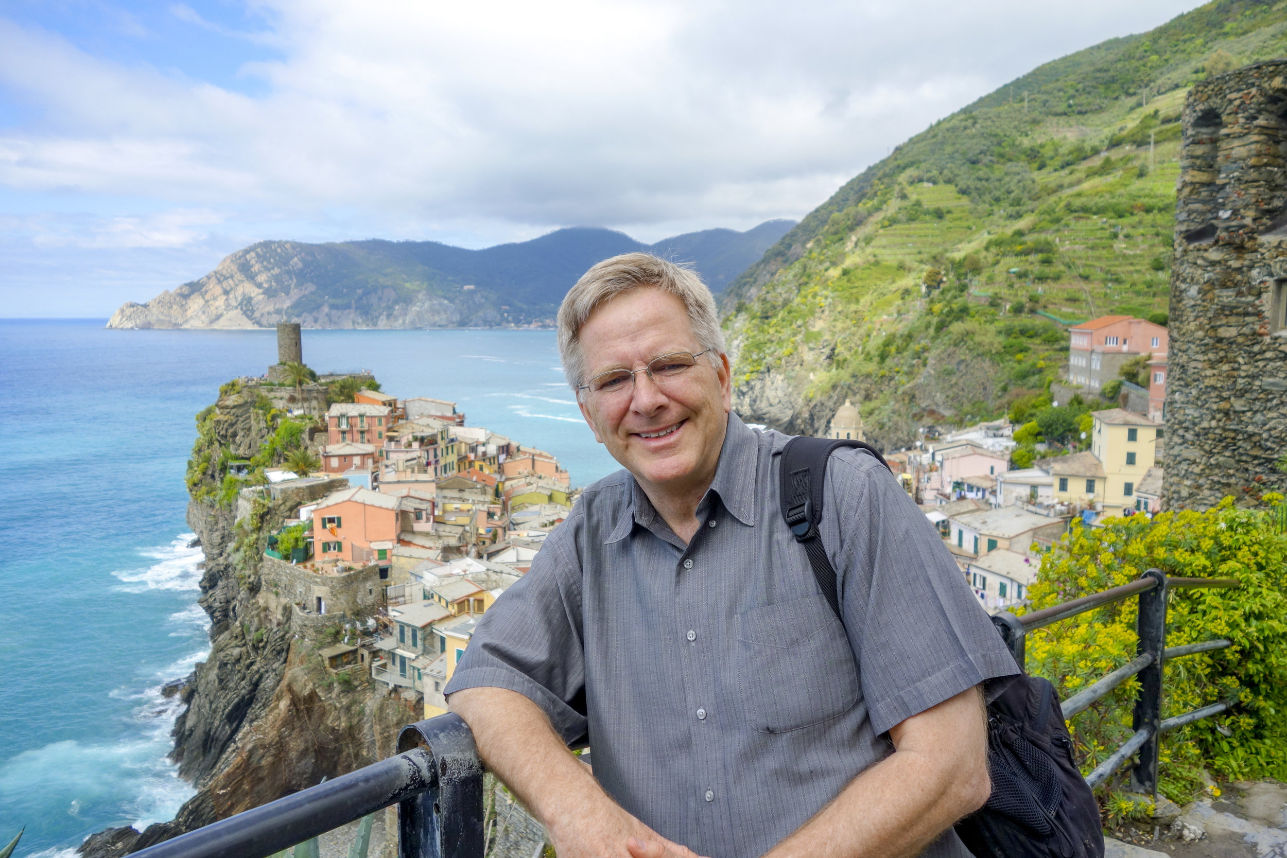 Rick Steves hosts  Rick Steves' Europe  on PBS and publishes a variety other content (click to enlarge) (Photo: RickSteves.com)